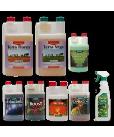 Zestaw Startowy Canna Terra na Wzrost i Kwitnienie+ Canna Cure + Canna Flush do ziemi