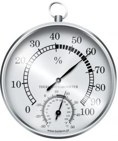 Termometr / higrometr analogowy srebrny 092209