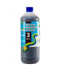 DUTCH FORMULA 3 MICRO 1L NAWÓZ UZUPEŁNIAJĄCY (MIKROELEMENTY) - ADVANCED HYDROPONICS OF HOLLAND