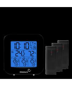 Stacja pogody 260509 elekt., 3 czujniki, term. higr. 2mesure