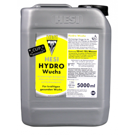 Hesi Hydro Growth 5l - Nawóz na fazę wzrostu hydroponika
